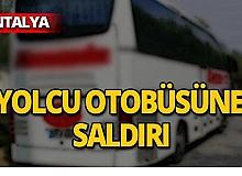 Yolcu otobüsüne taşlı saldırı