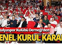 Antalyaspor Kulübü Derneği, voleybol takımı için karar aldı