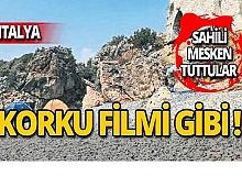 Dünyaca ünlü sahil korku filmini aratmıyor!