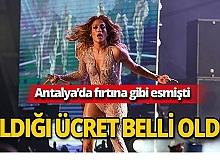 Jennifer Lopez Antalya konseri için ne kadar ücret aldı?