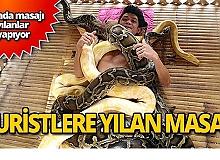 Yılanlardan masaj hizmeti