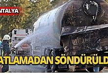 10 saat yanan LPG tankeri söndürüldü