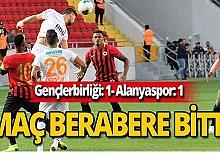 Alanyaspor-Gençlerbirliği maçı 1-1 berabere bitti
