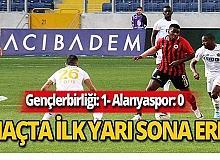 Alanyaspor-Gençlerbirliği maçında ilk yarı 1-0 bitti