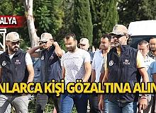 Antalya merkezli operasyon: 13 gözaltı!
