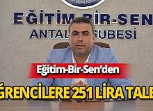 """Başkan Çoban: """"Her öğrenci için 251 lira verilmeli"""""""