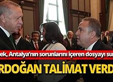 Böcek, Antalya'nın sorunlarını içeren dosyayı Erdoğan'a sundu