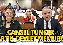 Cansel Tuncer devlet memuru olarak atandı