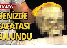 Denizde insan kafatası bulundu