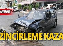Manavgat'ta zincirleme kaza