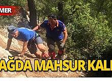 Rus turist dağda mahsur kaldı
