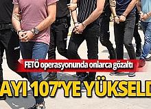 Sınav operasyonu: Gözaltı sayısı 107'ye yükseldi!