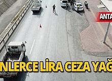 Sürücülere binlerce lira ceza yağdı!