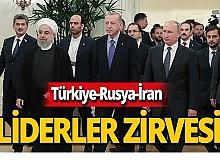 Türkiye-Rusya-İran arasındaki zirve sona erdi