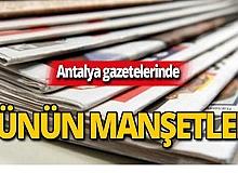 14 Ekim 2019 Antalya'nın yerel gazete manşetleri