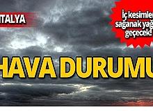 15 Ekim Antalya hava durumu