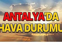 21 Ekim Antalya hava durumu
