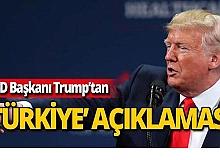 ABD Başkanı Trump'tan Türkiye'ye ilişkin bir açıklama daha