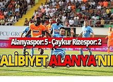 Alanyaspor Rizespor'u 5-2 mağlup etti