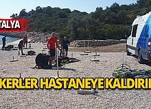 Antalya'da askerler hastaneye kaldırıldı!