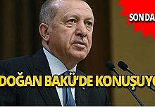 Cumhurbaşkanı Bakü'de konuşuyor