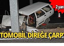 Feci kazada araç hurdaya döndü! 2 yaralı