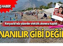 Antalya Konyaaltı'nda yüzenleri elektrik çarptı