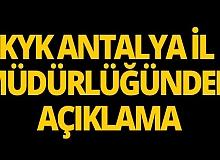KYK Antalya İl Müdürlüğünden o habere açıklama geldi!
