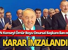 Nazarbayev, Türk Konseyi Ömür Boyu Onursal Başkanı ilan edildi