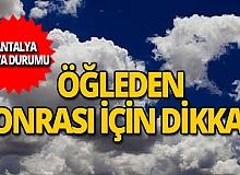 13 Kasım Antalya hava durumu