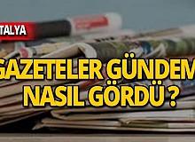 15 Kasım 2019 Antalya'nın yerel gazete manşetleri