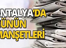 1 Kasım 2019 Antalya'nın yerel gazete manşetleri