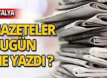 7 Kasım 2019 Antalya'nın yerel gazete manşetleri
