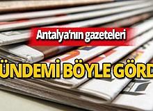 9 Kasım 2019 Antalya'nın yerel gazete manşetleri