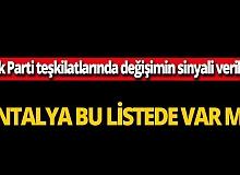 AK Parti teşkilatlarında değişim sinyali