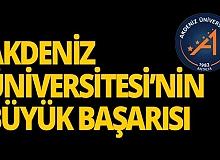 Akdeniz Üniversitesi'nin büyük başarısı