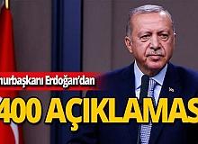 """Cumhurbaşkanı Erdoğan: """"Öyle bir şey olamaz"""""""