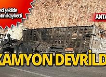 Kamyon sürücüsü feci şekilde hayatını kaybetti!