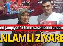MMA Şampiyonu Mir Celal Heseni'den anlamlı ziyaret
