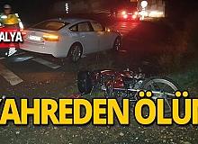 Motosiklet sürücüsünün acı ölümü