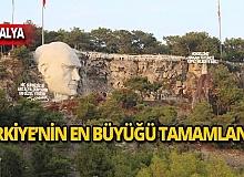 Türkiye'nin en büyük Atatürk maskı tamamlandı