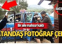 Antalya'da dere taşması sonucu bir aile mahsur kaldı
