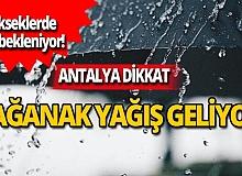 Antalya dikkat! Sağanak yağış geliyor
