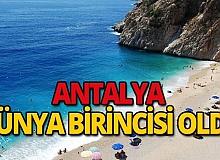 Antalya dünya birincisi oldu
