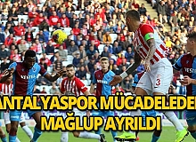Antalyaspor maçtan mağlup ayrıldı