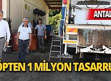 Çöpten 1 milyonluk tasarruf