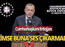 """Cumhurbaşkanı Erdoğan: """"Bir avuç insan dışında kimse buna ses çıkarmadı"""""""