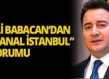 """Eski AK Partili Ali Babacan da """"Kanal İstanbul"""" tartışmasına katıldı"""