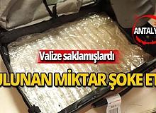 Havalimanında ele geçirilen uyuşturucu miktarı şoke etti