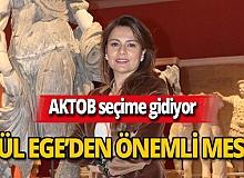 """Yeliz Gül Ege'den çağrı: """"Oyunuzu kullanın"""""""